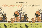 Halloween Night Seasonal Moda Quilting Fabrics