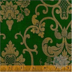 Baum-Windham Fabrics Williamsburg Christmas Traditions Green
