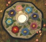 Bareroots Little Stitchies Flowers Candle Mat