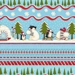Debbie Mumm Flannel Polar Pals - Scenic Repeating Stripe
