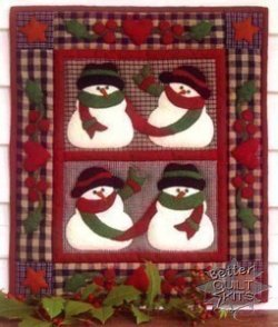 Snow Friends Wall Quilt Kit Simple Fat Quarter Cheese and Crackers ... : better quilt kits - Adamdwight.com