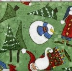 Spirit of the Season: Snowman Family, Green