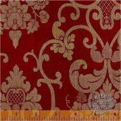 Baum-Windham Fabrics Williamsburg Holiday Heritage Black 27753-1