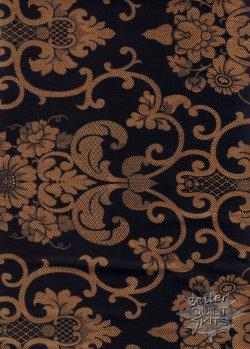 Baum-Windham Fabrics Williamsburg Holiday Heritage Black 27753-2