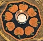 Bareroots Little Stitchies Pumpkin Candle Mat Kit