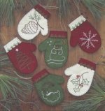 Mittens Embroidered Ornament Kit