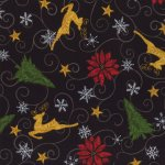 Moda Fabric- Christmas Countdown - Black