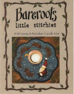 Bareroots Little Stitchies Santa and Reindeer Candle Mat Kit