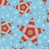 Debbie Mumm Flannel Polar Pals - Red Stars on Blue