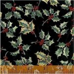 Baum-Windham Fabrics -- Williamsburg Christmas Traditions Black 27987-2