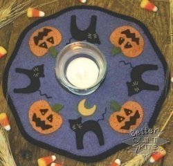 Bareroots Little Stitchies Halloween Candle Mat