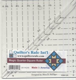 Quilter's Rule Magic Quarter Square Ruler