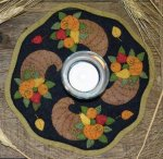 Bareroots Little Stitchies Horn of Plenty Candle Mat Kit