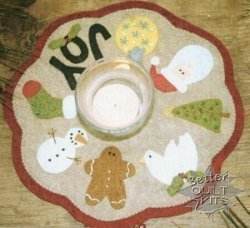 Bareroots Little Stitchies Christmas Candle Mat