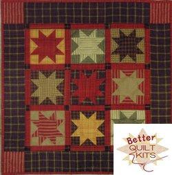67ad7d487170 Homespun Stars Quilt Kit  K0109-KIT  -  24.99   Better Quilt Kits ...
