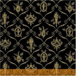 Baum-Windham Fabrics Williamsburg Christmas Traditions Black