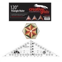 Creative Grids 120 Degree Triangle Ruler 6-1/2in