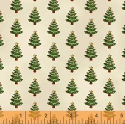 Windham Fabrics Paper Dolls Christmas - 30864-1 - Tiny Christmas Trees