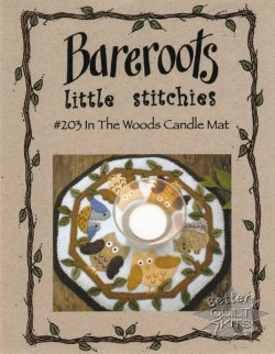 Bareroots Little Stitchies In The Woods Candle Mat Kit