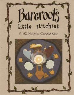 Bareroots Little Stitchies Nativity Candle Mat