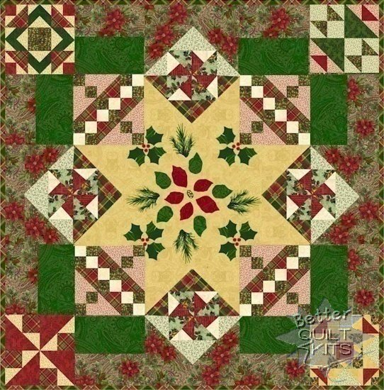 Christmas Peace Quilt Kit - Click Image to Close
