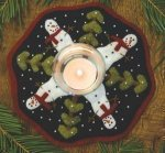 Bareroots Little Stitchies Snowman Candle Mat