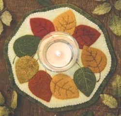 Bareroots Little Stitchies Fall Leaves Candle Mat Kit