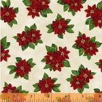 Windham Fabrics Paper Dolls Christmas - 30865-1 Pointsettia