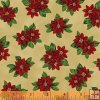 Windham Fabrics Paper Dolls Christmas - 30865-5 Pointsettia