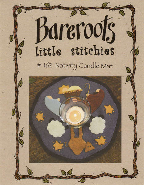Bareroots Little Stitchies Nativity Candle Mat - Click Image to Close