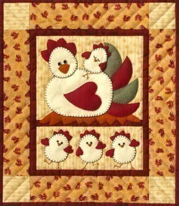 Chicken Coop Wall Quilt Kit - Click Image to Close