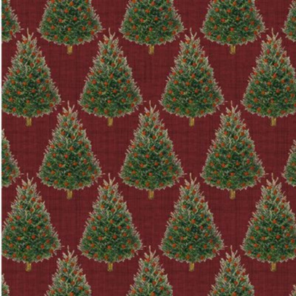 Baum-Windham Fabrics Williamsburg Holiday Heritage Red - Click Image to Close