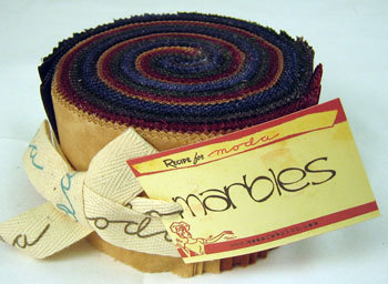 Moda Fabric- Warm Marbles Jelly Roll